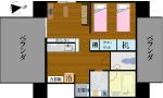 S-Style SUMUKA おもろまち駅 1LDK 間取り図