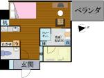 S-Style SUMUKA おもろまち駅 2号部屋 間取り図