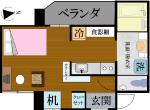 S-Style SUMUKA おもろまち駅 3号部屋 間取り図